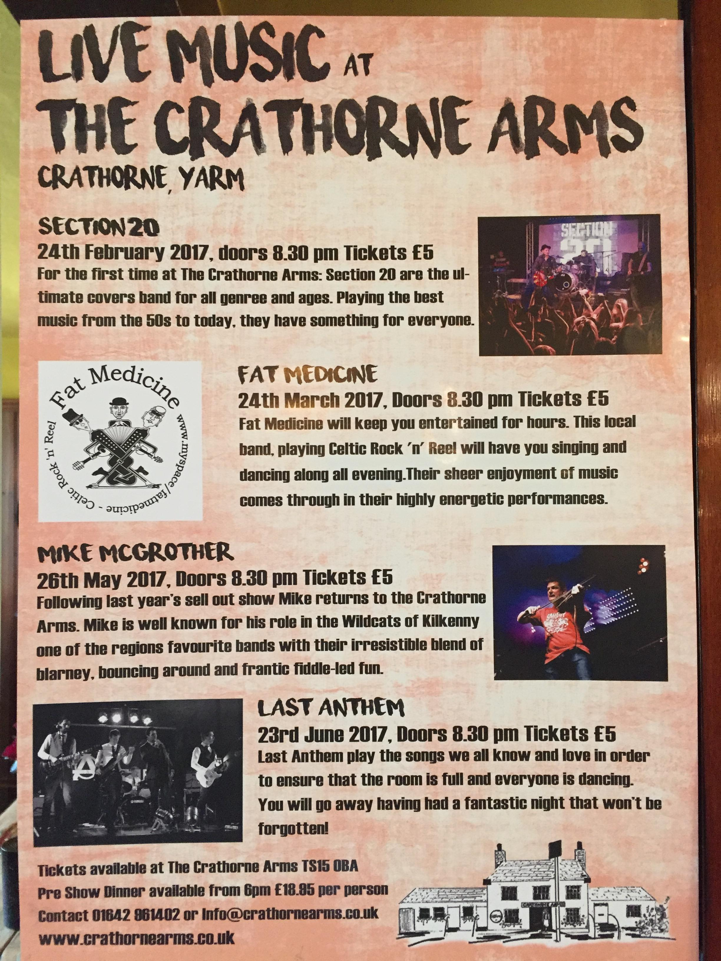 Good News Music Lovers, Our Gig Listing For The Next Few Months Is Here! We  Have Mike McGrother With His Choir The Infant Hercules, The Full Last  Anthem And ...