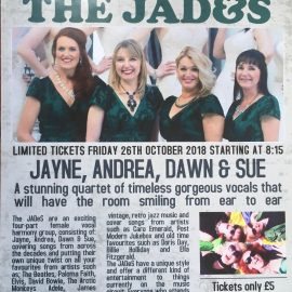 THE JADES – FRIDAY 26TH OCTOBER